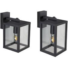 Außenleuchte Wandlampe Wandleuchte Gartenlampe LED E27 DOWN 230V IP44 Schwarz