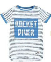 Angel & Rocket Boys' Rocket Diver Striped T-Shirt, Multi new john lewis age 6