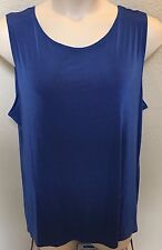 NEW - Citiknits - blue stretch pullover sleeveless blouse - Size 3X