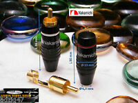 ø 1 PAIR RCA NAKAMICHI MODEL 2 GOLD 24 K UNIVERSAL AUDIO CABLE