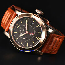 Sapphire Glass Parnis Men's Gents 44mm Automatic Date Window Movement GMT Watch