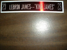 LEBRON JAMES NAMEPLATE FOR SIGNED BALL CASE/JERSEY CASE/PHOTO