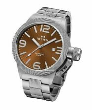 TW STEEL CB25 MENS BROWN 45MM CANTEEN AUTOMATIC WATCH - 2 YEARS WARRANTY