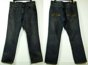 FUSAI 1997 Distressed Vintage Black 1997 Straight Leg Jeans 34X30