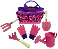 Kids Gardening Tool Set - Real Metal Child Sized Hand Tools with Wooden Handles