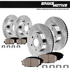 Front & Rear Drill Slot Brake Rotors And Ceramic Pads For 2011 - 2014 Impala