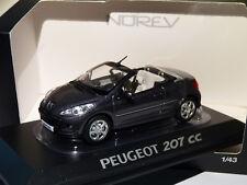 Norev 472772 1/43 Peugeot 207 CC Mi-vie 2009 Gris Shark
