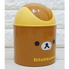 Rilakkuma Mini Push Trash Can Cute Waste Basket Interior Kids Living Bath Room