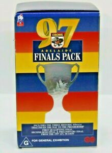 AFL Adelaide Crows '97 Adelaide Crows Finals Pack 3 VHS Pack  VGC Free Post