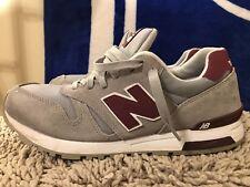 New Balance 565, ML565RG, Gray/Maroon, Men's Running Shoes, Size 10