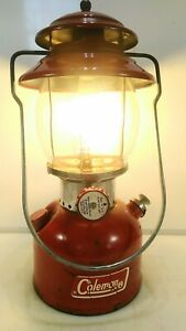 Vintage Coleman 200A Red Single Mantle Lantern May 1972