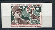 Kongo ( Brazzaville ) 87 postfrisch ungezähnt / Charles de Gaulle ........1/3301