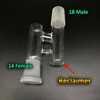 Reclaim Ash Catcher Drop Down Glass Adapter 19mm Male to 14mm Female Lab Glass