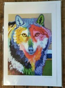 """BIG WOLF""  6""x9"" art card by Cherokee artist John Balloue"