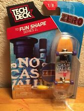 2016 TECH DECK Zero No Cash Value 1/8 Finger board Display Stand Mini Skateboard