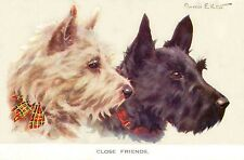 Scottish & West Highland Terrier 1940s F. Valter LARGE New Blank Note Cards