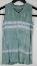 JUSTICE Girls Sleeveless Top Green Tie-dye  Size 10