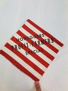 Vtg  Honeggers Fairbury Forrest ILL State Fair Advert-Handkerchief -Big H Feeds