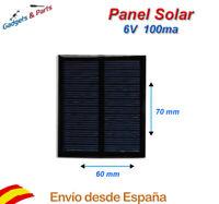 Panel Solar 6V 100mA 70x60 Placa Solar Celula Fotovoltaica Cargador
