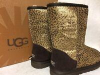 womens ugg classic short calf hair leopard metallic boot 1005329w rh ebay com