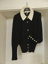 Vintage RENA LANGE Strick Jacke Gr.40  Seidenkragen