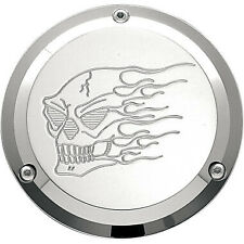 Chrome 3 Hole Hot Head Derby Cover for Harley Davidson Big Twins (1970-1998)