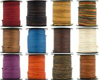 Xsotica® Round Leather Cord 2.0mm 25 meters (27 Yard)  Over 65 Colors Available