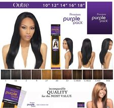 "Outre Premium Purple Pack 100% Human Hair Yaki Weave 10"" 12"" 14"" 16"" 18"" 20"" 22"""