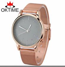 Unisex Men Women Ladies Stainless Steel Dial Analog Quartz Wrist Watch OKTIME
