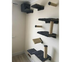 Furry Cat wall shelves set of 11 (S1)