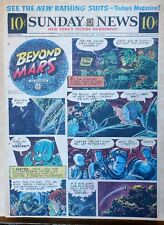 Beyond Mars by Jack Williamson - scarce full tab Sunday comic page, May 16, 1954