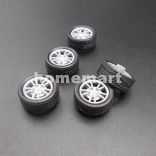 5PCSX HQ Rubber Plastic Tire Wheel DIY RC Model Car Dia.16mm for 2mm axle 1.95MM