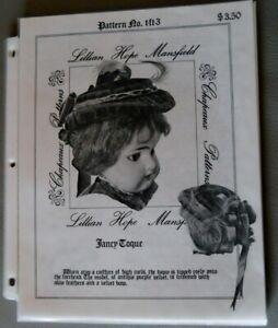 Mansfield Fancy Toque Hat Pattern for Antique Bisque Head Doll