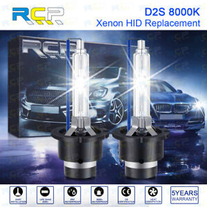 RCP - D2S8 - A Pair D2S/ D2R 8000K Xenon HID Replacement Bulb Ice Blue Metal 35W