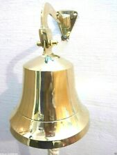Nautical Brass Ships Wall Bell 15-2 cm with Mounting Bell Gift