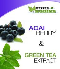 100 Acai Berry & 100 Green Tea Colon Cleanse Weight Loss Diet Capsules Pills