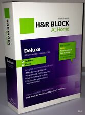 H&R Block  At Home Deluxe + State 2012 Windows / Mac / PC Brand New