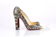 Christian Louboutin Python Peep Toe Pumps S 39 EU - Mint