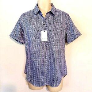 Robert Graham Mens Shirt Size Small Lamphere Woven Classic Fit Short Sleeve New