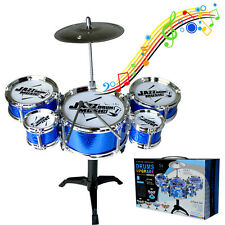 Random Set Mini Jazz Drum DIY Percussion Musical Instrument Kids Fun Toy Gifts