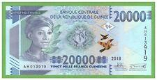 GUINEA -  20000 FRANCS - 2018 - P-new  - UNC - REAL FOTO
