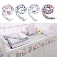 Nordic Style 2m Knot Plush Pillow Baby Bed Bumper Safe for Baby Crib Decor