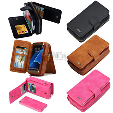 Multifunction Removable Wallet Case Card Leather Cover Zipper Holder Handbag BRG