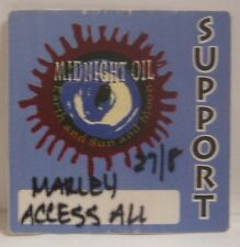 MIDNIGHT OIL - ORIGINAL CONCERT TOUR CLOTH BACKSTAGE PASS ***LAST ONE***