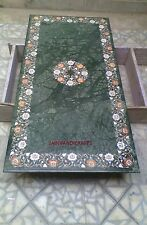 3'x2' Marble Dining Coffee Side Corner Center Table Top Mosaic Inlay Work Green
