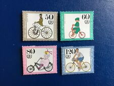 GERMANY BERLIN MNH 1985 BICYCLES BUSSING TRICYCLE JARAY OPEL RACER