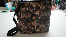 Harry Potter Tote Bag-Dark Brown B/G-Black Lining-Machine Quilted-Hand Made