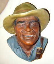 Fine Bosson Chalkware Head York Explorer Hero with Lewis & Clark Expedition 6.5""