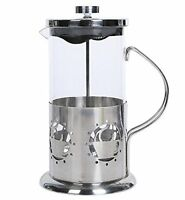 French Press 8 Cup Coffee Maker Stainless Steel Base Wall Brushed Cafetiere 34oz