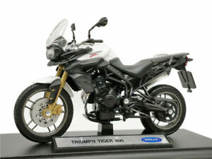 Welly 1:18 Triumph Tiger 800 Motorcycle Bike Model Toy New In Box